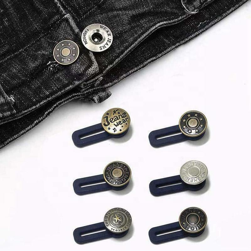Jeans Retractable Button Adjustable Detachable Extended Button For Clothing Jeans Belt Buckle For Men Women