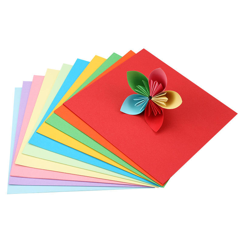 Wholesale A4 color printing copy paper 70g office100 sheets mixed color handmadewood pulp lined a4 size color papers