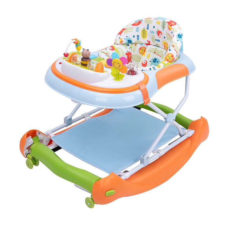 Brightbebe 4 in 1 new model activity kids learning jumping waker baby, multifunction unique variable rocking baby walker