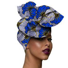 Wax Fabric Scarf Print Headwrap, Batik Wax Kitenge Fabric Batik African Turban Head Tie Hat Headwear