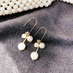 2020 fashion pearl u shaped earrings