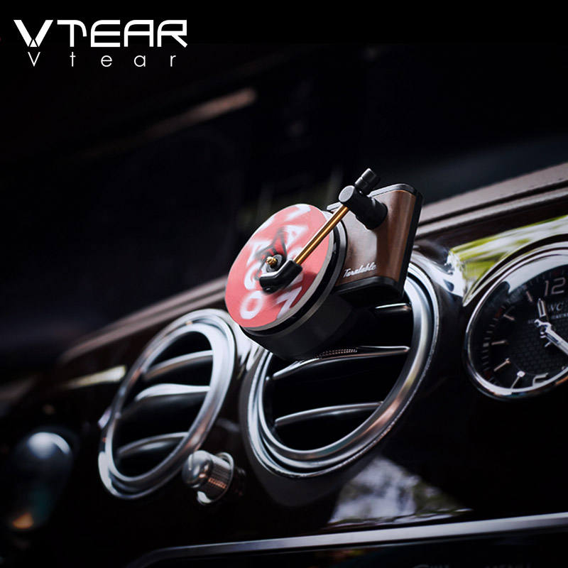 Vtear Car air freshener automobiles perfume Auto Air Outlet Aromatherapy Car Perfume Diffuser Record player parfum Accessories