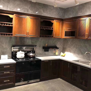 Customized Style Aluminum Frame Kitchen Cabinet