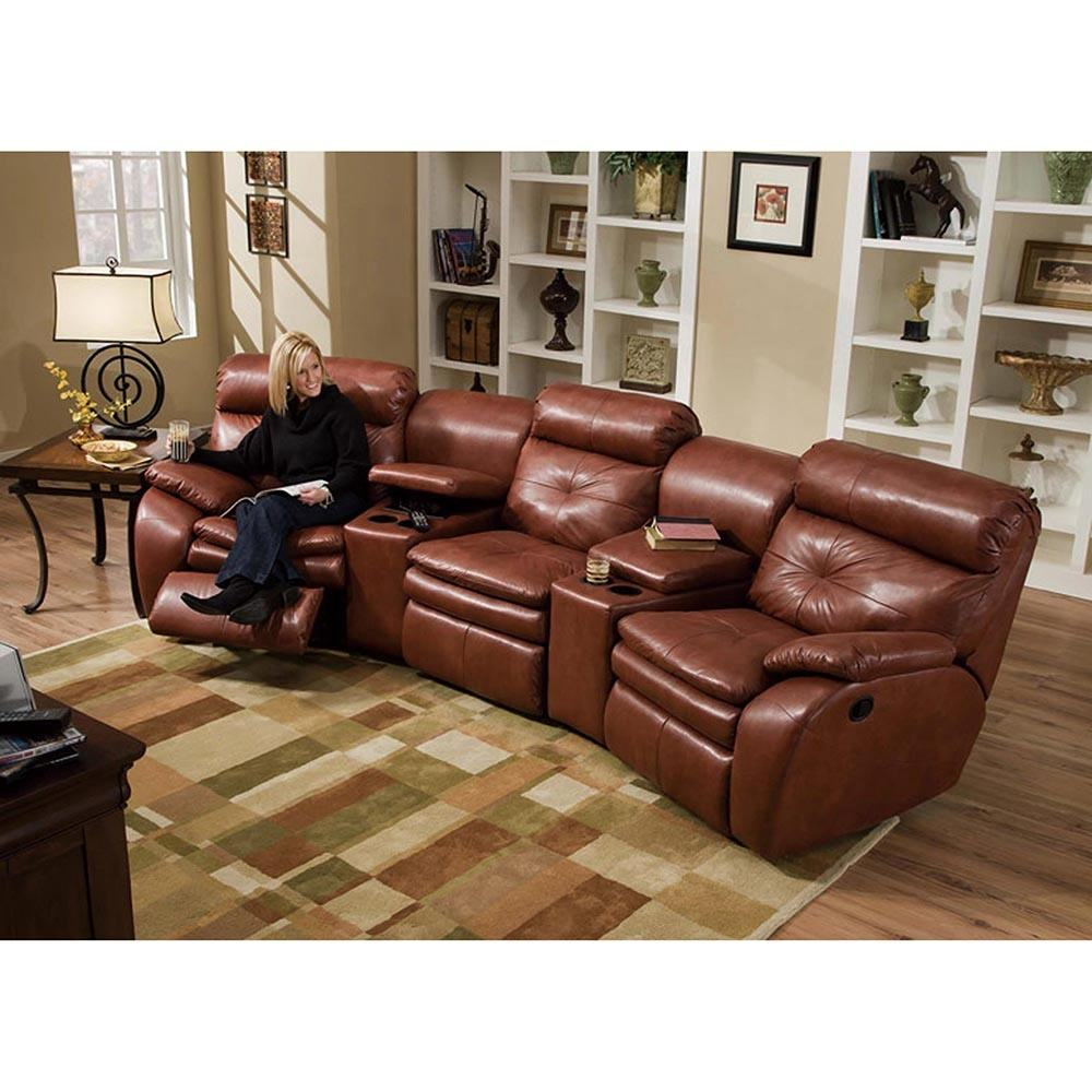 CBMMART home furniture high end 3 seater electric leather recliner sofa chair with cup holders