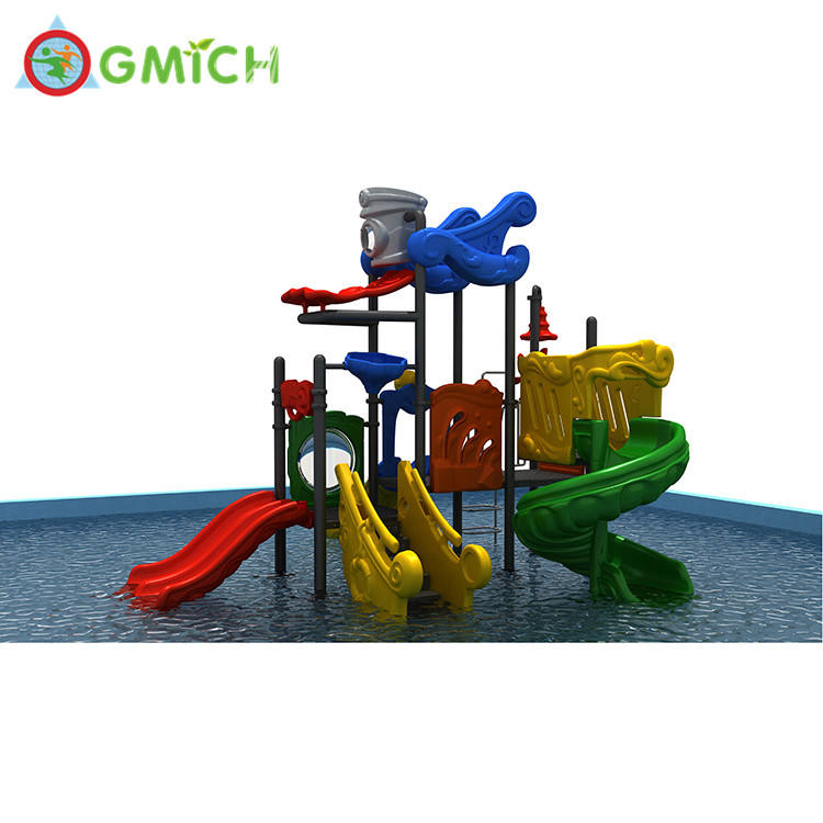 Bright colorful slides mini water playground pool water park JMQ-910303