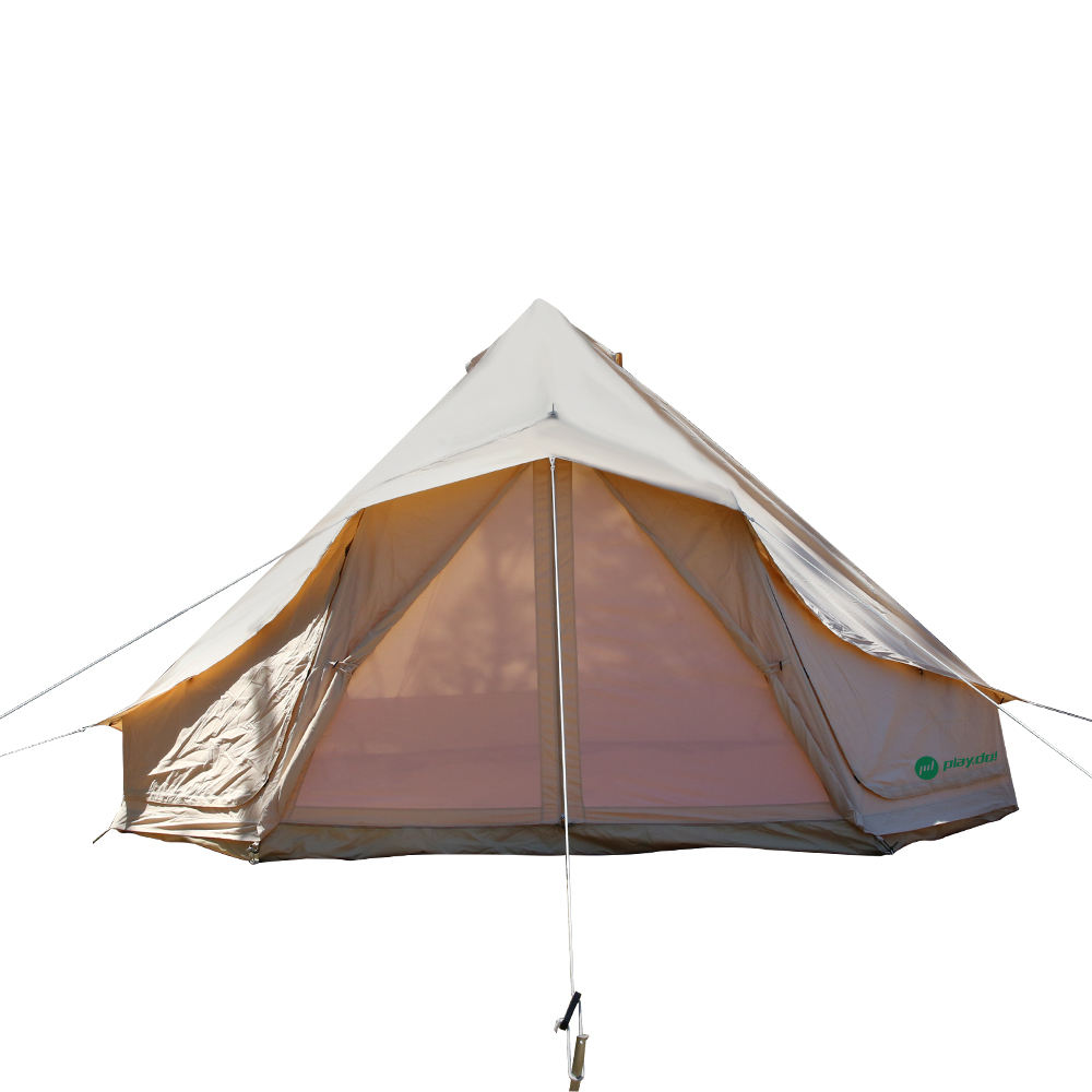 Luxe Resort Tent 3 M 4 M 5 M 6 M 7 M Grote Windows <span class=keywords><strong>Outdoor</strong></span> Camping Canvas Bell Tent