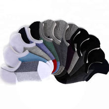 100% Cotton Solid Color Mens Silicon No Show Grip Socks For Men, Invisible Socks