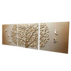 3d High Quality Metal Texture Classic Hot Sale Tree Wall Decorative Painting