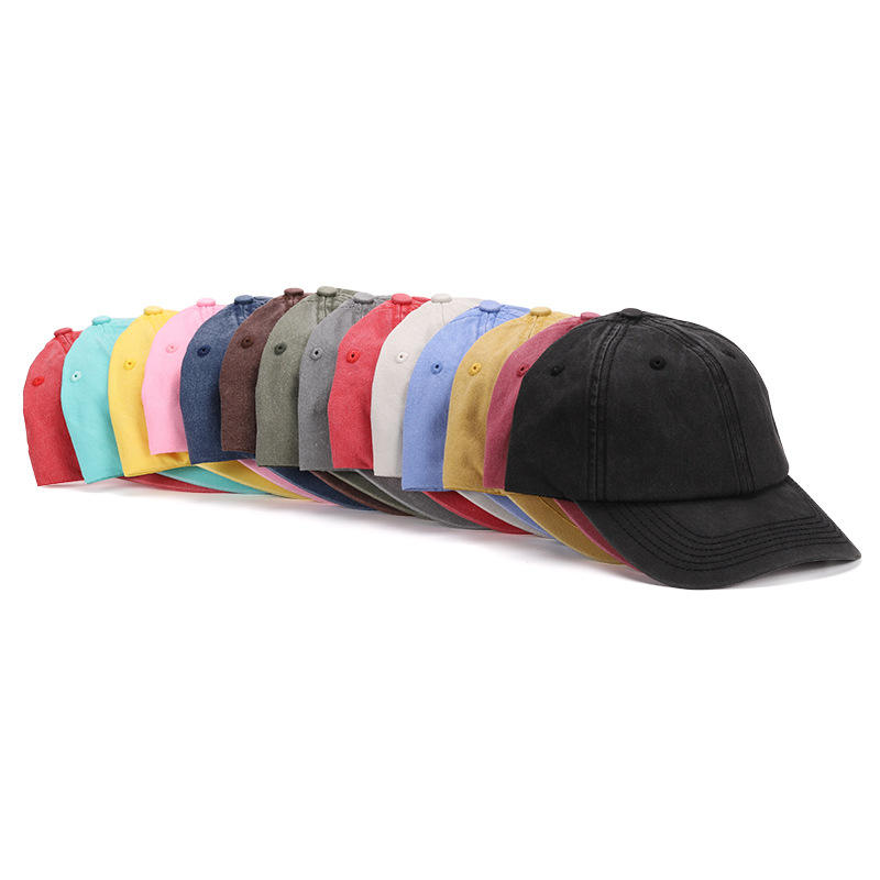 High Quality Retro Gorras Hats Hip Hop Mens Cotton vintage Washed Customized Embroidered Baseball Caps Manufacturers