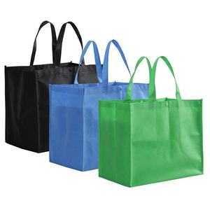 Tosnail Large Reusable Handle Grocery Tote Bag Shopping Bags in 3 Colors with button closure