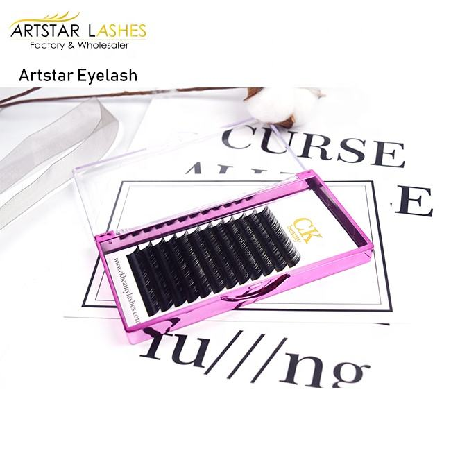 Fluffy Lashes 0.05 Lashes jb Dark Black Lightweight Silk Softness Wholesale Private Label Individual Eyelash Extension