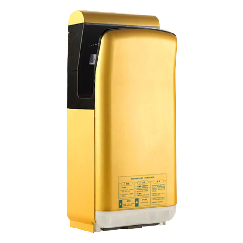 High speed 120m/s electric sensor gold color jet air hand dryer automatic for bathroom use