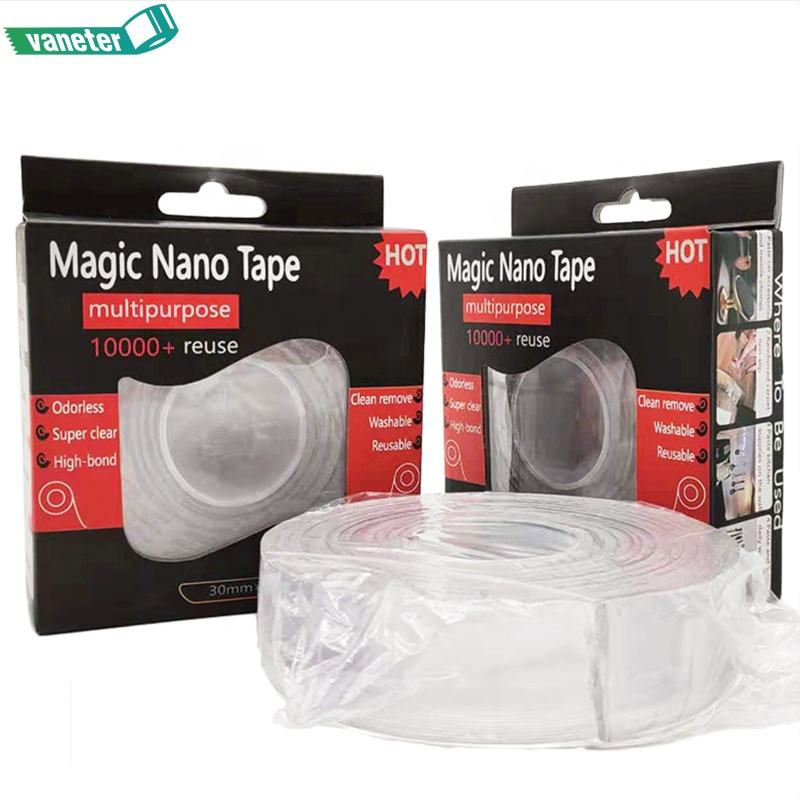 Wholesale Magic Nano Tape, Widely Used Double Sided Gel Grip Tape Washable Tape