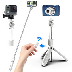 3 in 1 Wireless Bluetooth Selfie Stick Extendable Handheld Monopod Foldable Mini Tripod With Shutter Remote For iPhone