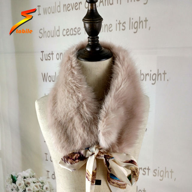 STABILE Custom made all kinds of artificial faux racoon / fox /mink fur collar for women /men