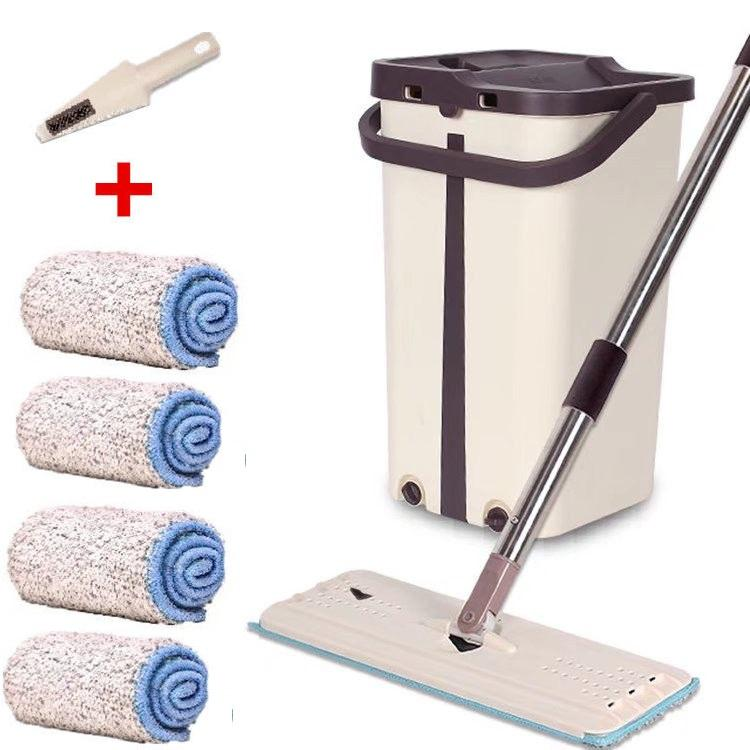 Hand Free Easy Use Self-washed Magic Flat Mop, mop with bucket, cleaning mop