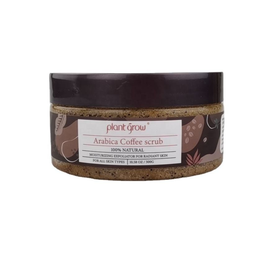 Private label 100% Naturale Organico Esfoliante Anti Cellulite Macchia Organica Arabica di caffè Scrub corpo