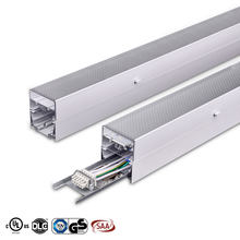 45W 60W Supermarket linkable led lights 4ft Industrial Trunking System LED Linear Connectable Aluminum led linear light