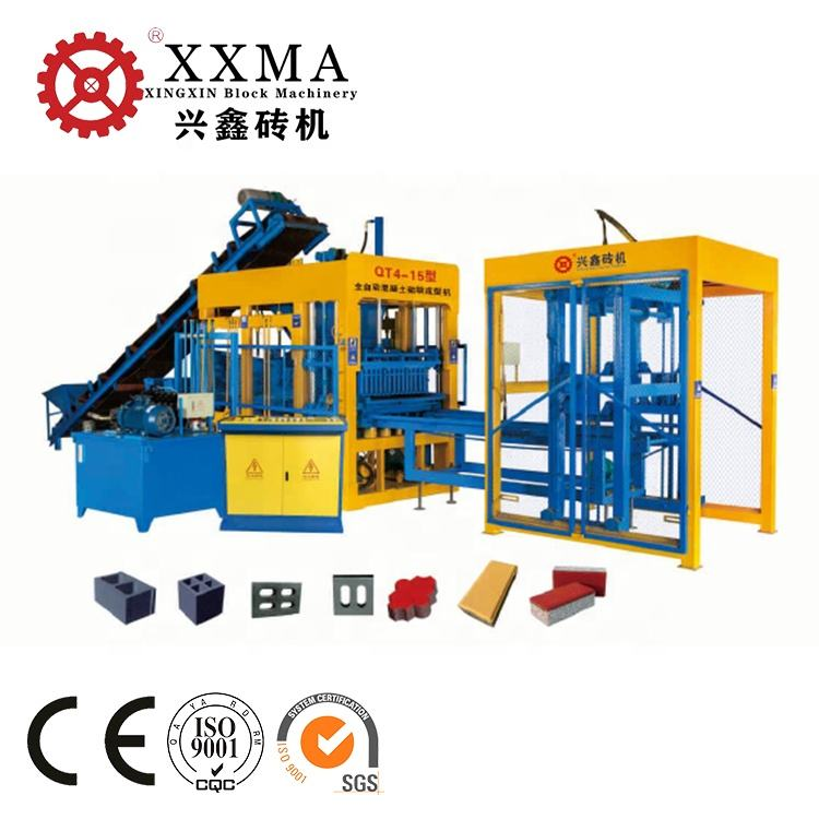 China automatic eco cement brick machine price QT4-15 interlock making machine cement business idea small making machine