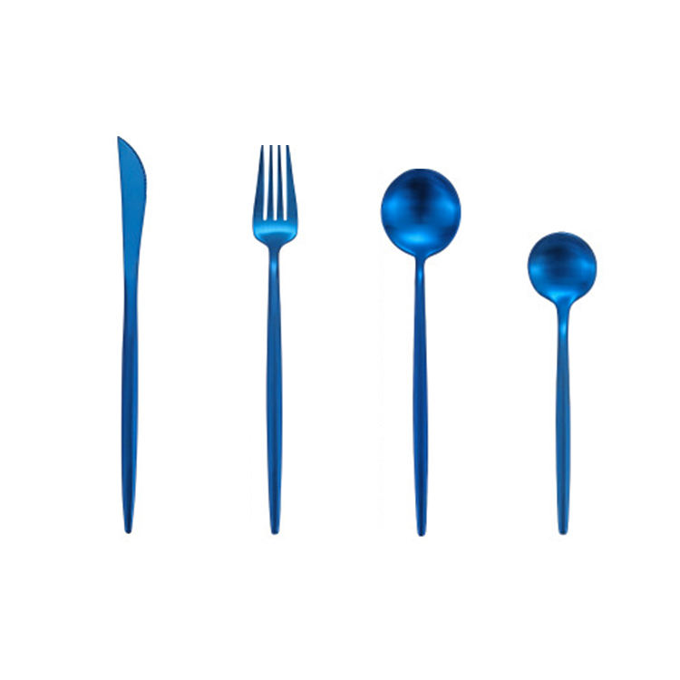 Wholesale Gold Plated Spoon Fork Knife Tea Coffee Spoon Stainless Steel Tableware