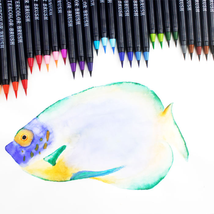 Promotional Small Order 50 Colors Soft Brush Tip Pens for Kids and Adults Coloring Books