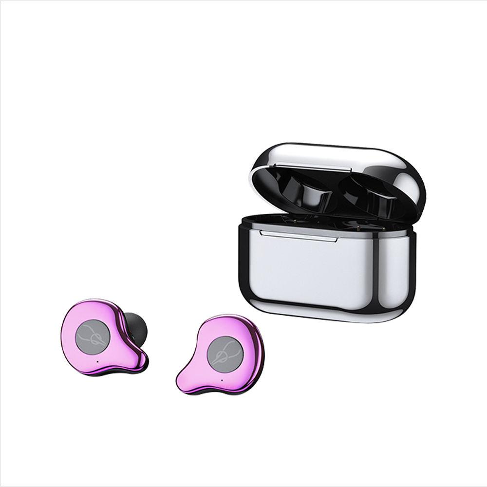 Màu Xanh Răng 5.0 Mạ Điện Cặp Song Sinh Đúng Mini TWS Tai Nghe Earbuds Với Bộ Sạc Không Dây Trường Hợp