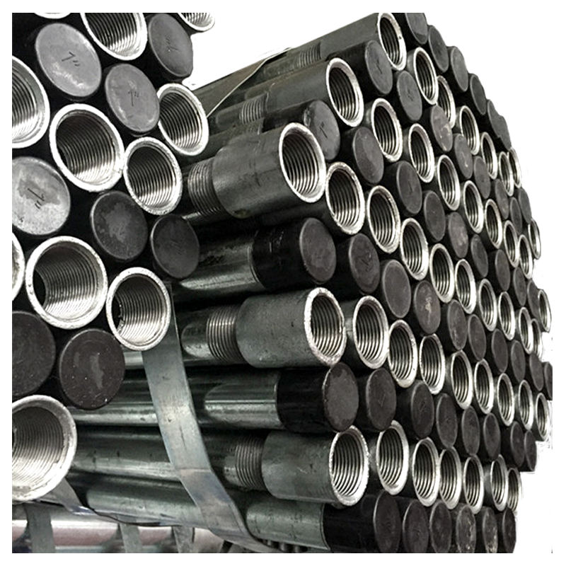 EN 10025 s275jr structural steel pipe size chart round hollow section galvanized pipe threaded on both ends