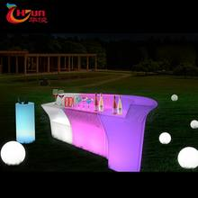 2020 Waterproof commercial bar counter portable bar Led table/Flashing led table for night club