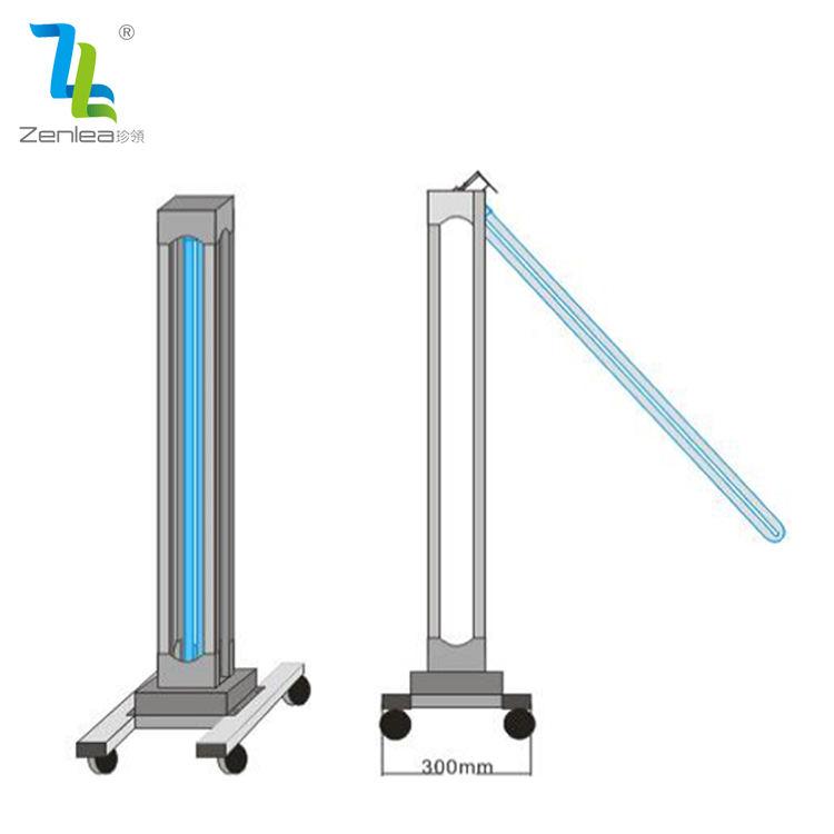 De la inducción del cuerpo humano 100w 150w uvc ultravioleta de tubo de cuarzo desinfección móvil ozono esterilizador <span class=keywords><strong>uv</strong></span> Coche