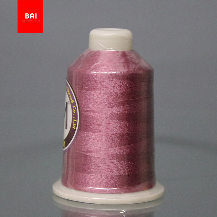 BAI Eco-friendly 120d/2 viscose rayon 100% polyester embroidery machine thread