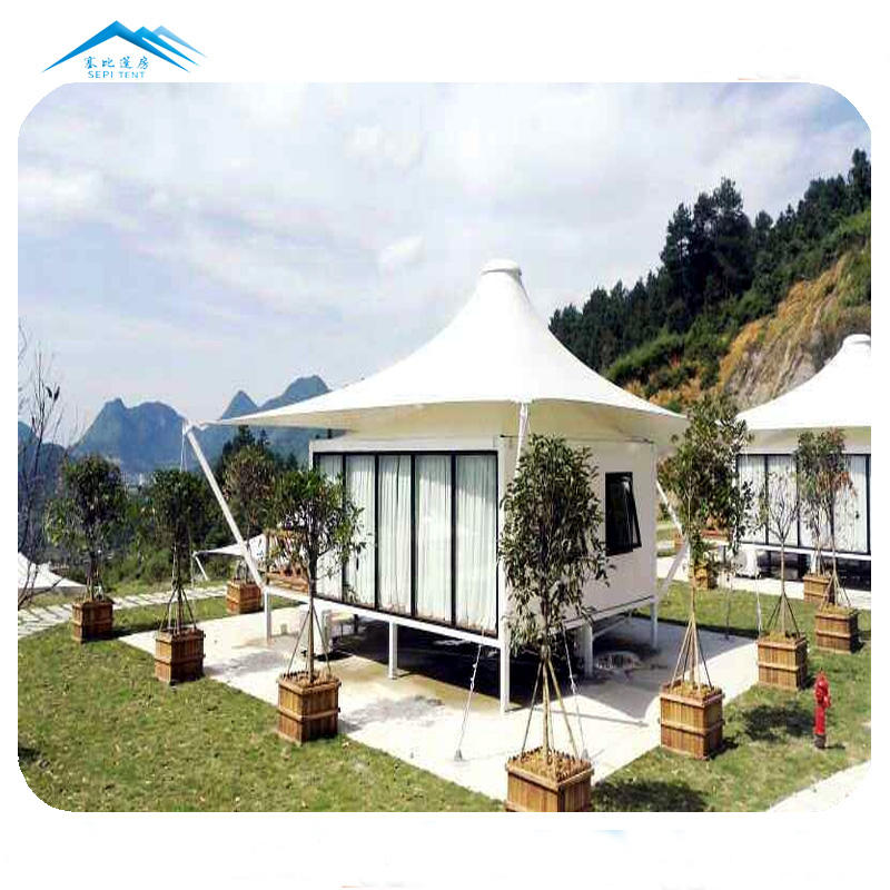 Prefab villa houses farm house 5X5 meters 1 bedroom mountain tent for sale