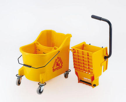 manufactory 33L plastic heavy and strong industrial mop bucket/plastic wringer mop bucket with wheels for hotel