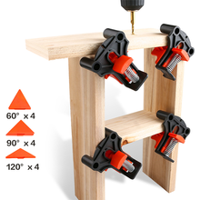 4PCS Multifunctional 60/90/120 Degree Corner Clamp Woodworking Corner Clip Fixer Hand Tools Right Angle Clamp