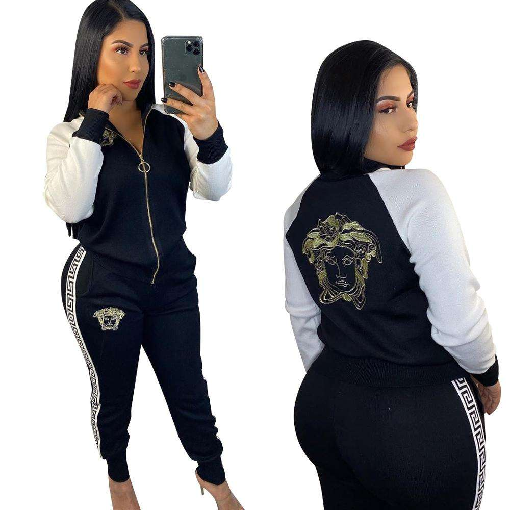 2019 Women Joggers Tracksuits Two Piece Set Clothing 2 Piece Set Women Sequin Clothing Hoodie Sweatshirts