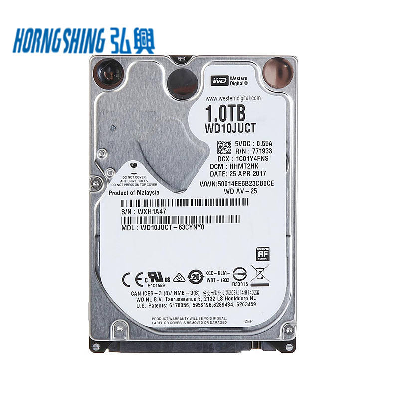 HORNG SHING Fournisseur Faible Consommation D'énergie WD10JUCT 1 TO <span class=keywords><strong>3</strong></span>.0 Gbps 2.5 Pouces 5400 tr/min 1 Téraoctets Occidentale HDD Interne
