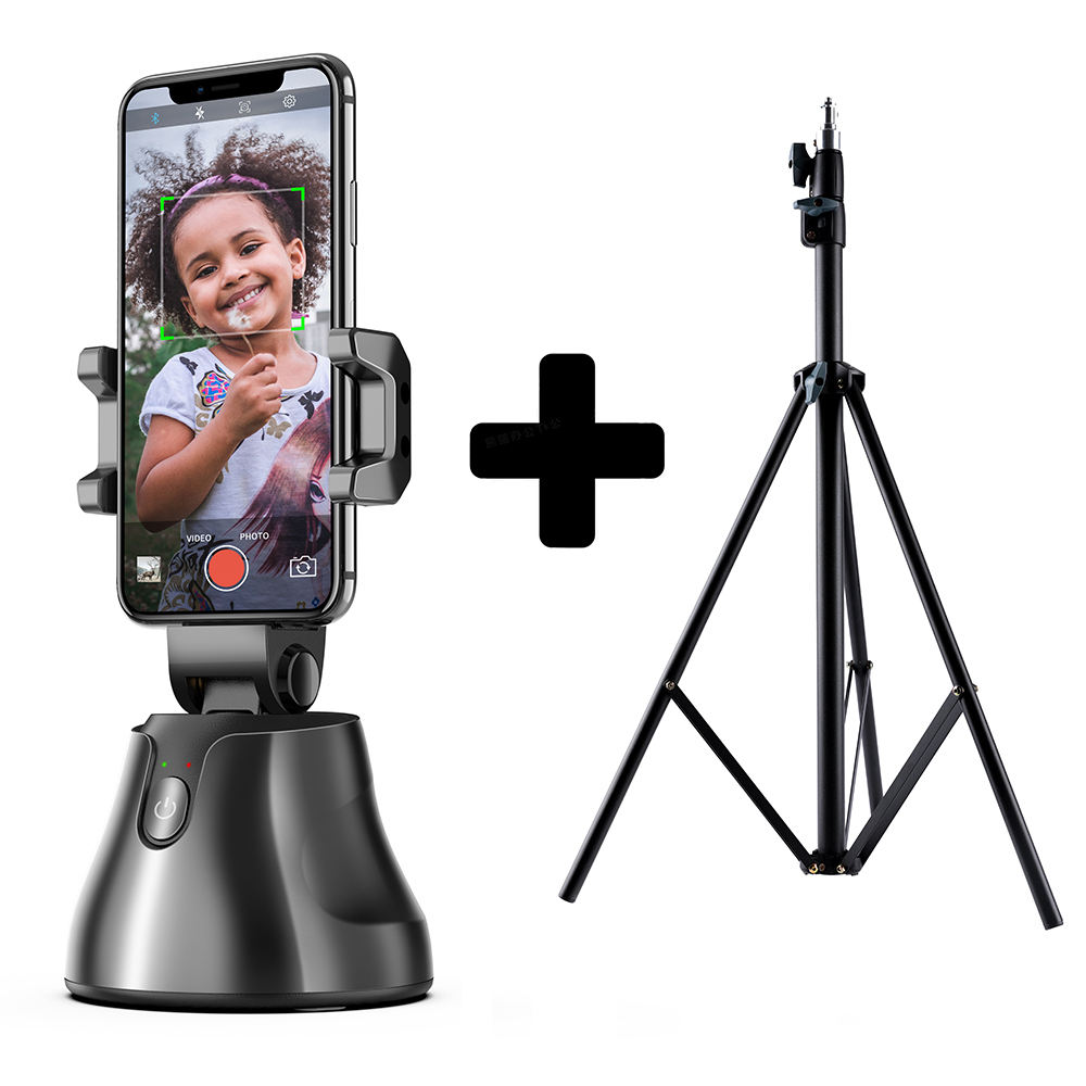 Laudtec Smartphone Gimbal Selfie Stick Portable Auto Shooting Selfie Stick, Auto Face Object Tracking Vlog Camera Phone Holder