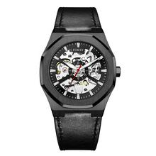 2020 New Classic Reloj De Hombres Custom Leather Strap Automatic Movement Skeleton Mens Watches