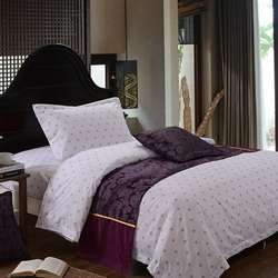 Promote Sales Double Size Pure White Bedding Set for home an
