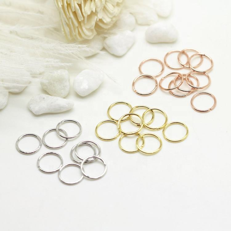 Multi 12 Sizes Copper Jewelry Accessories Connectors Open Split Ring Jump Ring