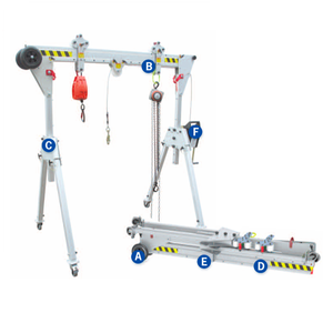 Aluminium Light Duty Mini Lifting Adjustable Portable Mobile Gantry Cranes