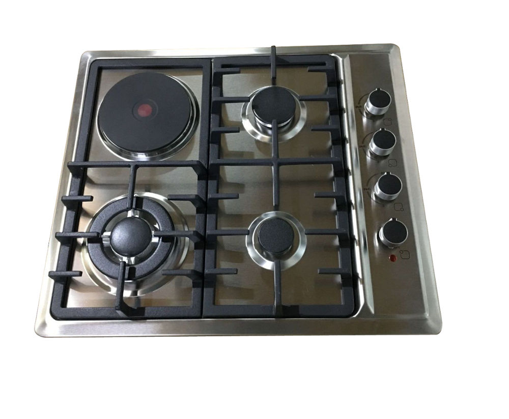 60cm Stainless Steel Multiple Gas cooktop and electric cooker