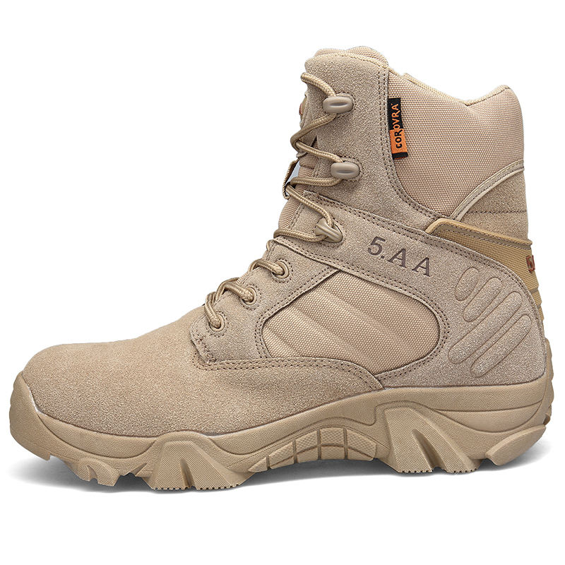 Greatshoe hot sale beige desert earthquake resistant tactical german military boots army desert boots