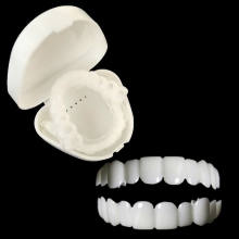 snap smile customized  label Upper and lower False teeth cover Perfect Smile Veneers Comfort Fit Flex Denture braces