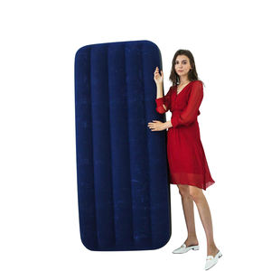 Inflatable Flocked Air Mattress High Quality Inflatable Single Air Bed