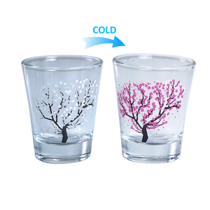 Customized logo 2oz/50ml wine whiskey cup blank sublimation espresso glasses small bullet shot glass