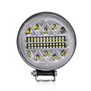 Motorcycle h4 led Headlight IP66 102W Sport Light Car Brightness Spotlight 42 Round Work Light Big Cree Lamp for Jeep Wrangler