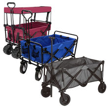 Outdoor Camping Beach Guarden Trail Collapsible Folding Utility Cart Wagon for Children Kids with Canopy