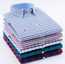 High quality 100%cotton washed oxford plaid check long sleeve casual shirts