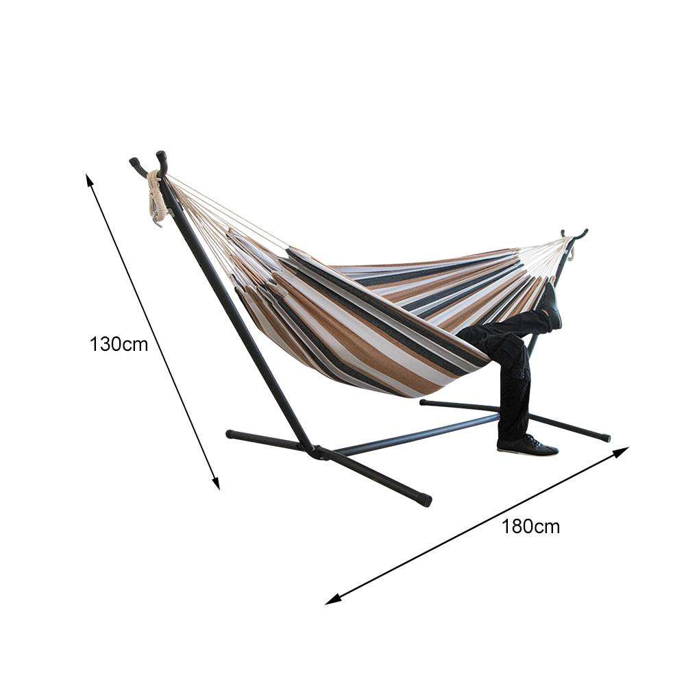1-2 Person Portable Indoor/Outdoor Camping Hammock High Strength Parachute Fabric Hanging Bed Hunting Sleeping Swing