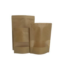 Biodegradable paper bag for nuts packaging the stand up coffee bag with window recycled paper bag for seeds packaging
